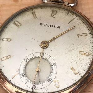 Vintage Bulova Pocket Watch 17 Jewels Working !!!!
